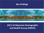 Cover of Myanmar: DHS, 2015-16 - Survey Presentations (English)