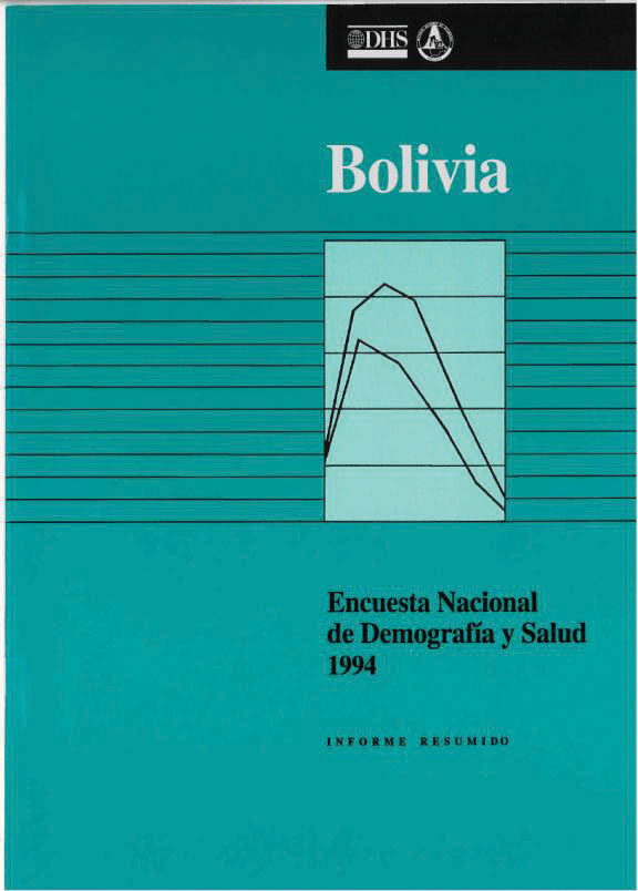 Cover of Bolivia DHS, 1994 - Summary Report (Spanish)